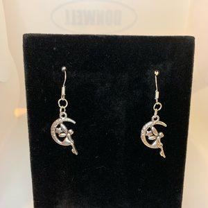Jewelry - TIBETAN SILVER MOON FAIRY EARRINGS ( HANDMADE )